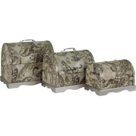 Mocha Paisley Wooden Storage Set