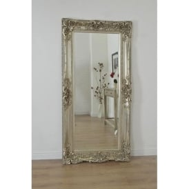 Ornate Antique French Style Silver Mirror