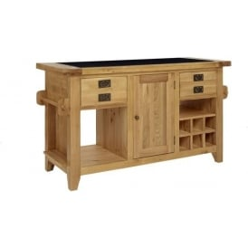 Provence Oak Granite Top Island Unit