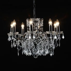 8 Branch Black Antique French Style Chandelier