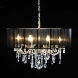 8 Branch Antique French Style Chandelier With Shade