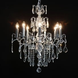 8 Branch Chrome Antique French Style Chandelier
