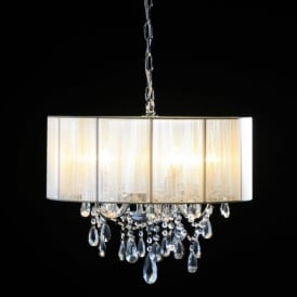 5 Branch Antique French Style Chandelier With Shade