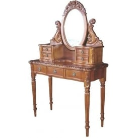 Victorian Mahogany Antique French Style Dressing Table