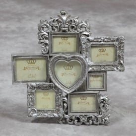 Silver Multi Antique French Style Photo Frame