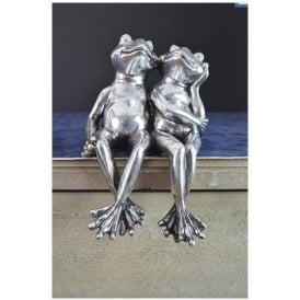 Silver Sitting Frogs