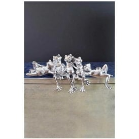 Silver Frogs Ornament