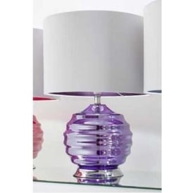 Purple Glass Table Lamp