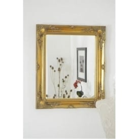 Classic Ornate Styled Gold Antique French Mirror