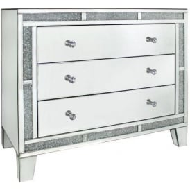 Siena Mirrored Chest Of Drawers