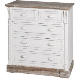 New England Shabby Chic Chest Of Drawers