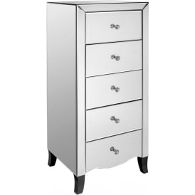 Valentina Mirrored Tallboy Chest