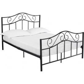 Zeta Black Metal Bed
