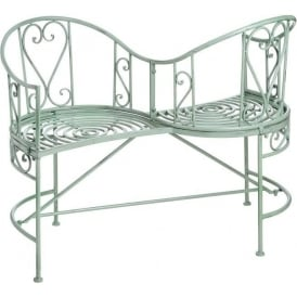 Duck Egg Iron Antique French Style Bench