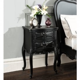 La Rochelle Black Antique French Style Bedside