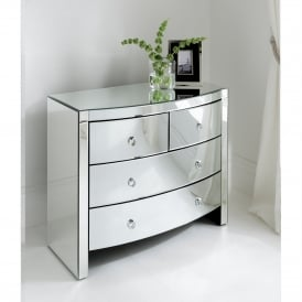 Florence Mirrored Chest 4 Drawer