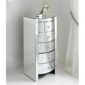 Florence Mirrored Tallboy Chest