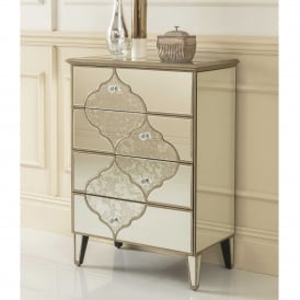 Sassari Mirrored Tallboy Chest