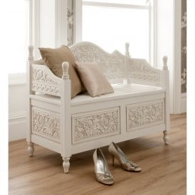 La Rochelle Antique French Style Monks Bench