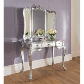 La Rochelle Silver Antique French Style Dressing Table