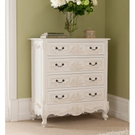 Rococo Antique French Style Chest Of Drawers