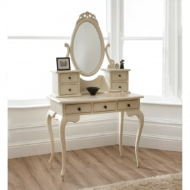 Bordeaux Ivory Antique French Style Dressing Table