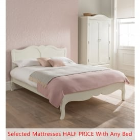 Alexander Antique French Style Bed (Size: Double) + Mattress - Bundle Deal