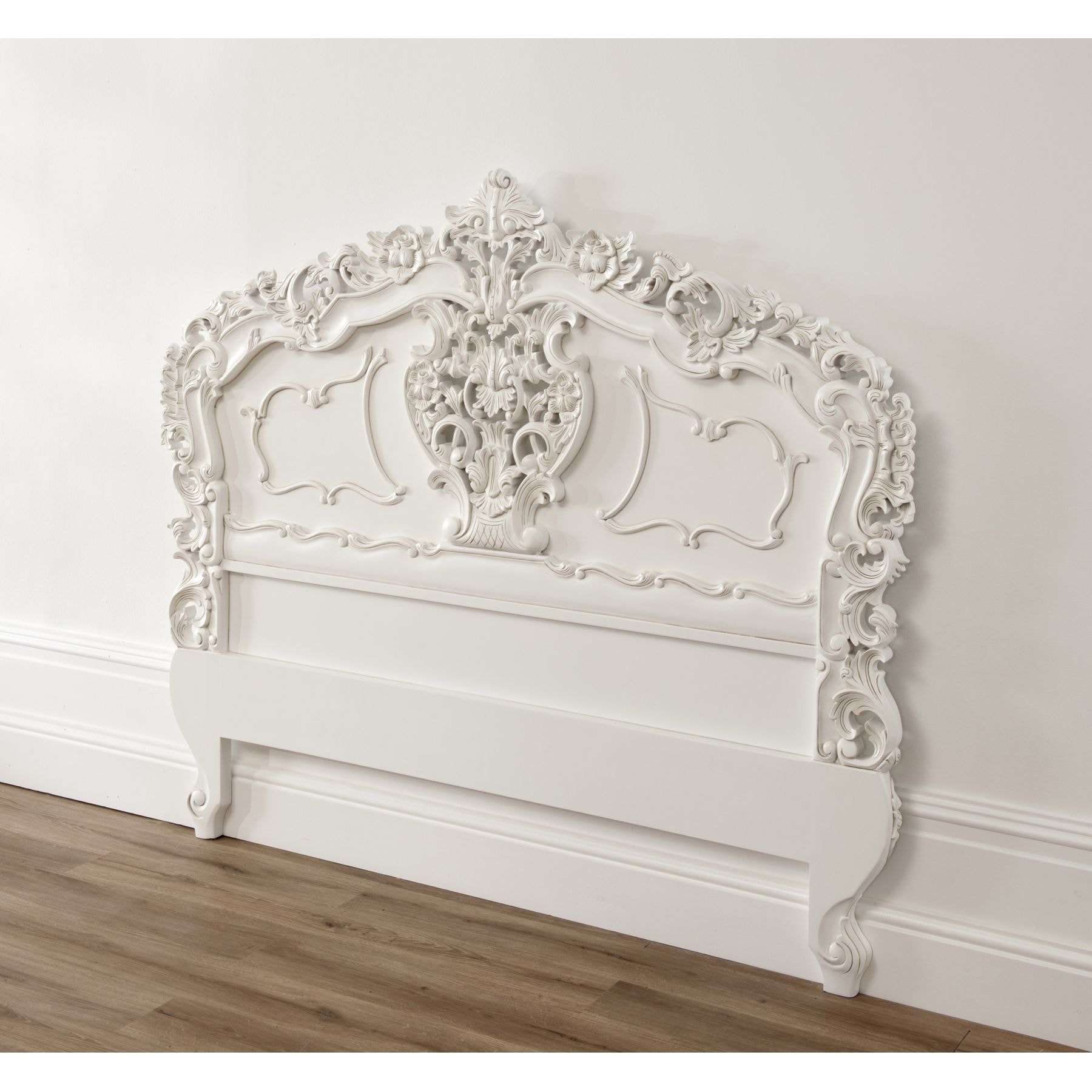 White Rococo Antique French Headboard A Fantastic Addition