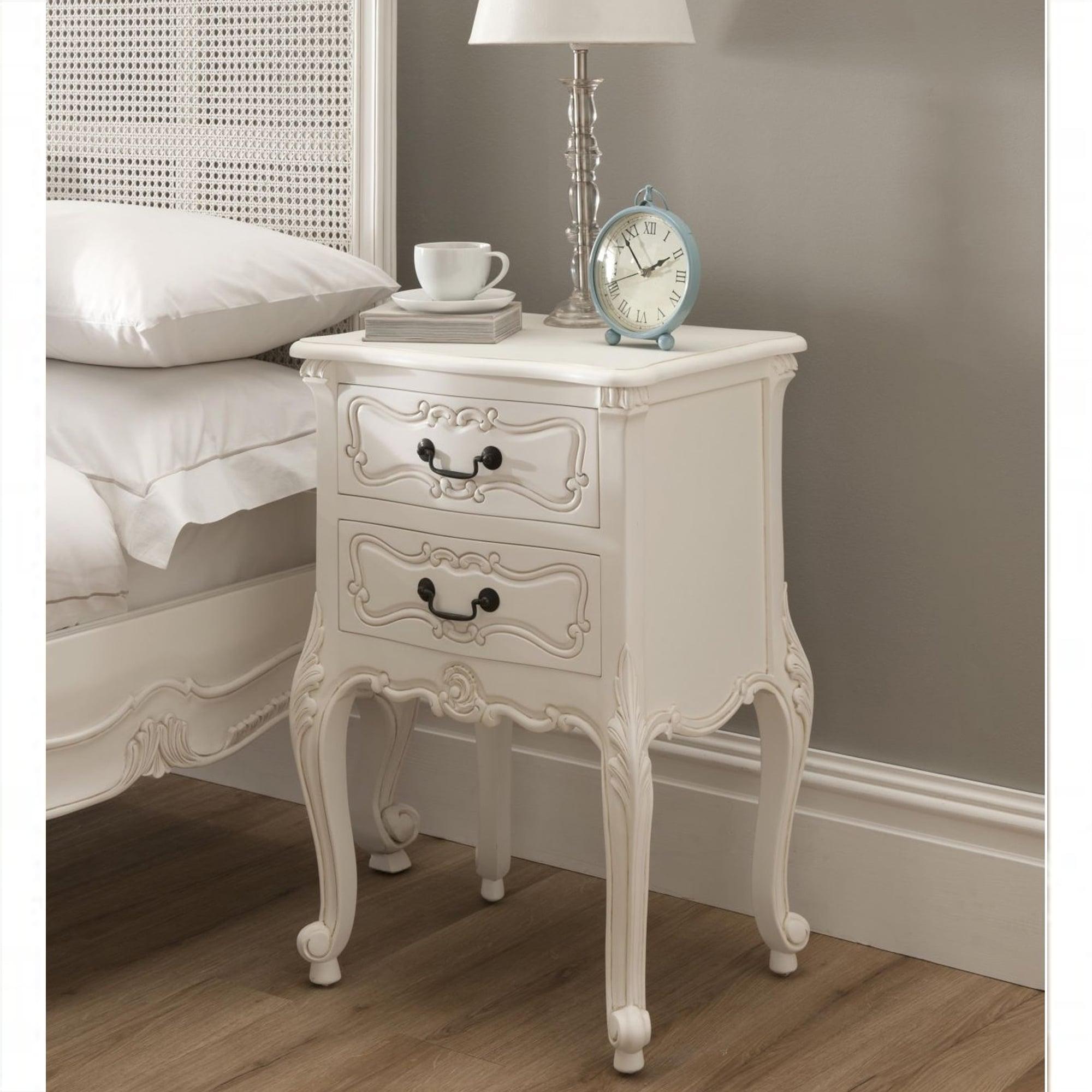 La rochelle antique french bedside - Bedroom furniture bedside tables ...
