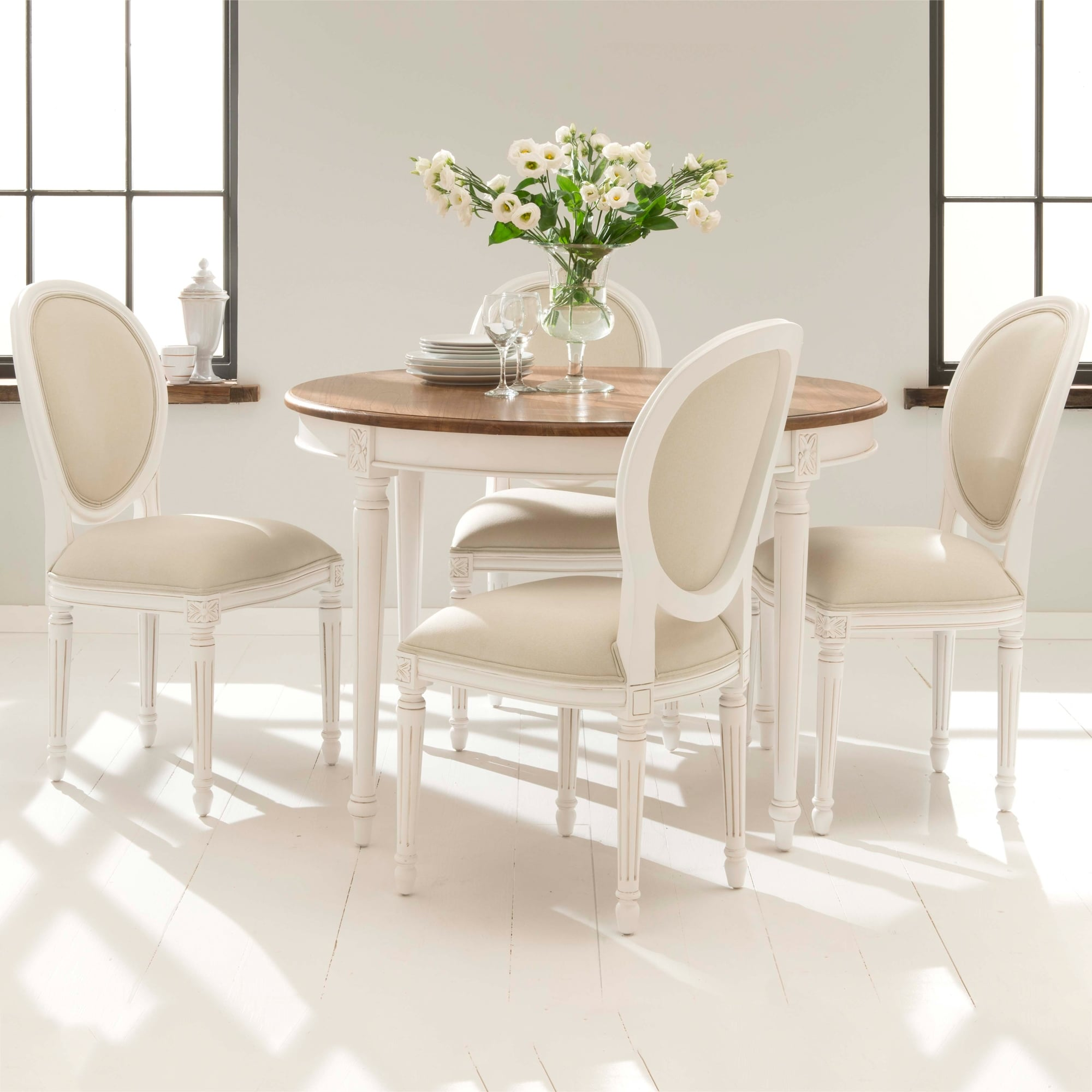 Brand new antique french style dining table set for Latest style dining table