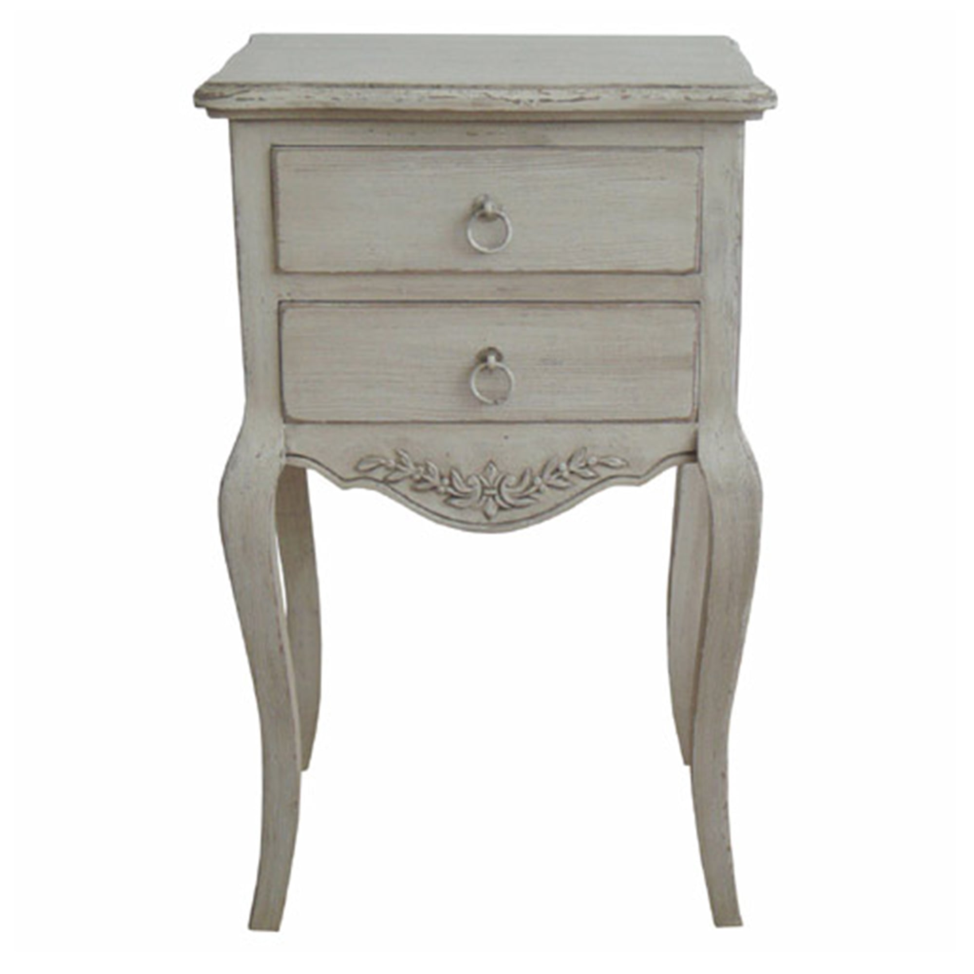 Antique French Style Bedside Table Antique White From