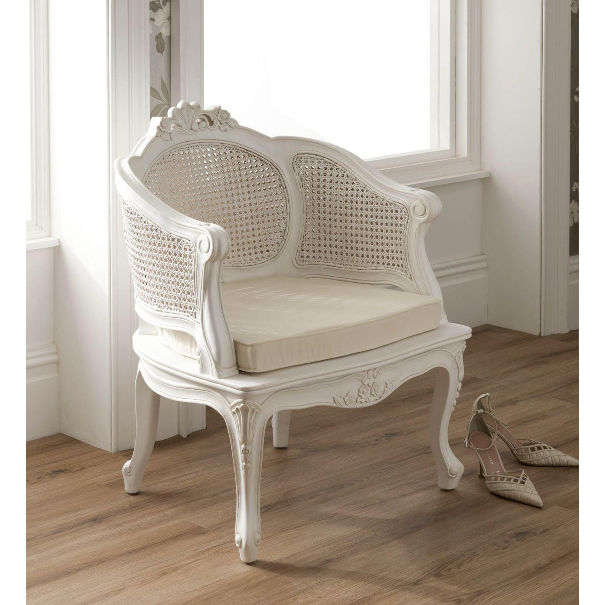La Rochelle Antique French Rattan Chair