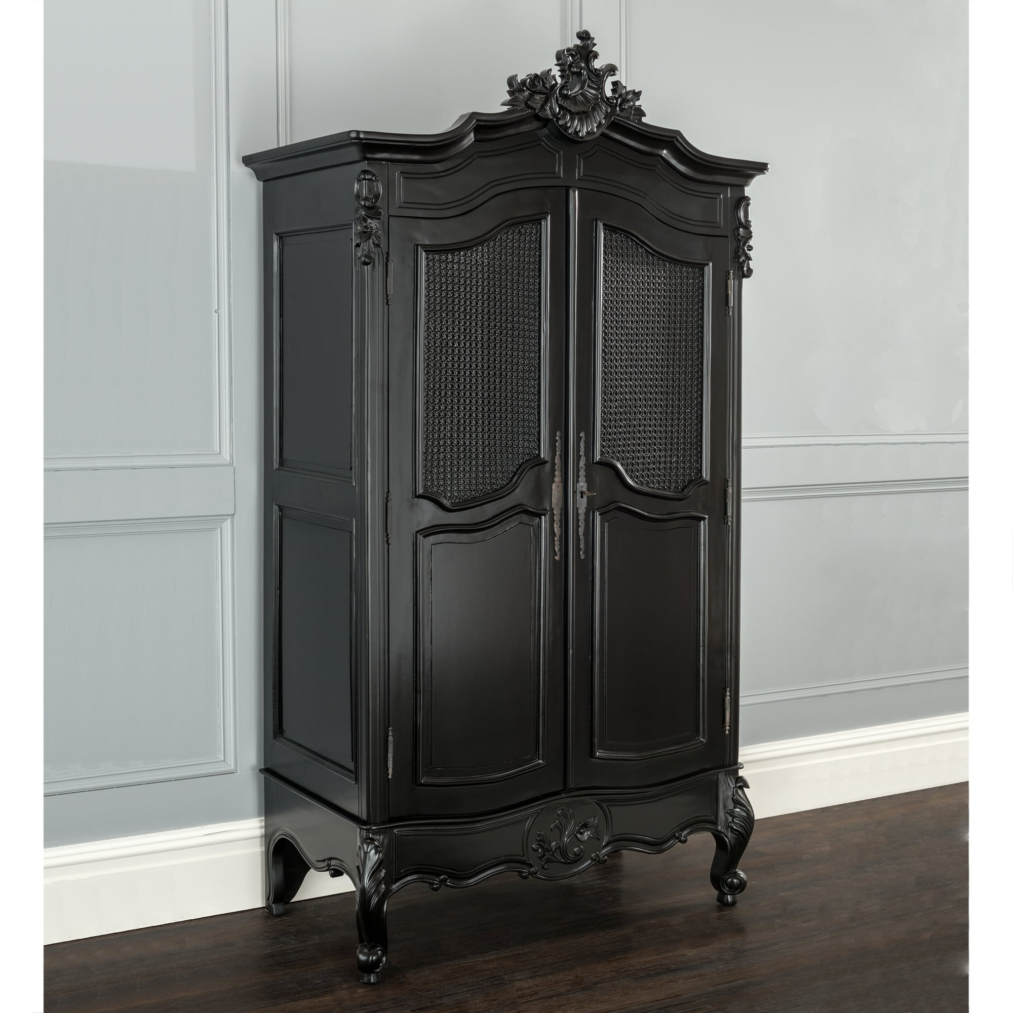 la rochelle antique french wardrobe black painted furniture. Black Bedroom Furniture Sets. Home Design Ideas