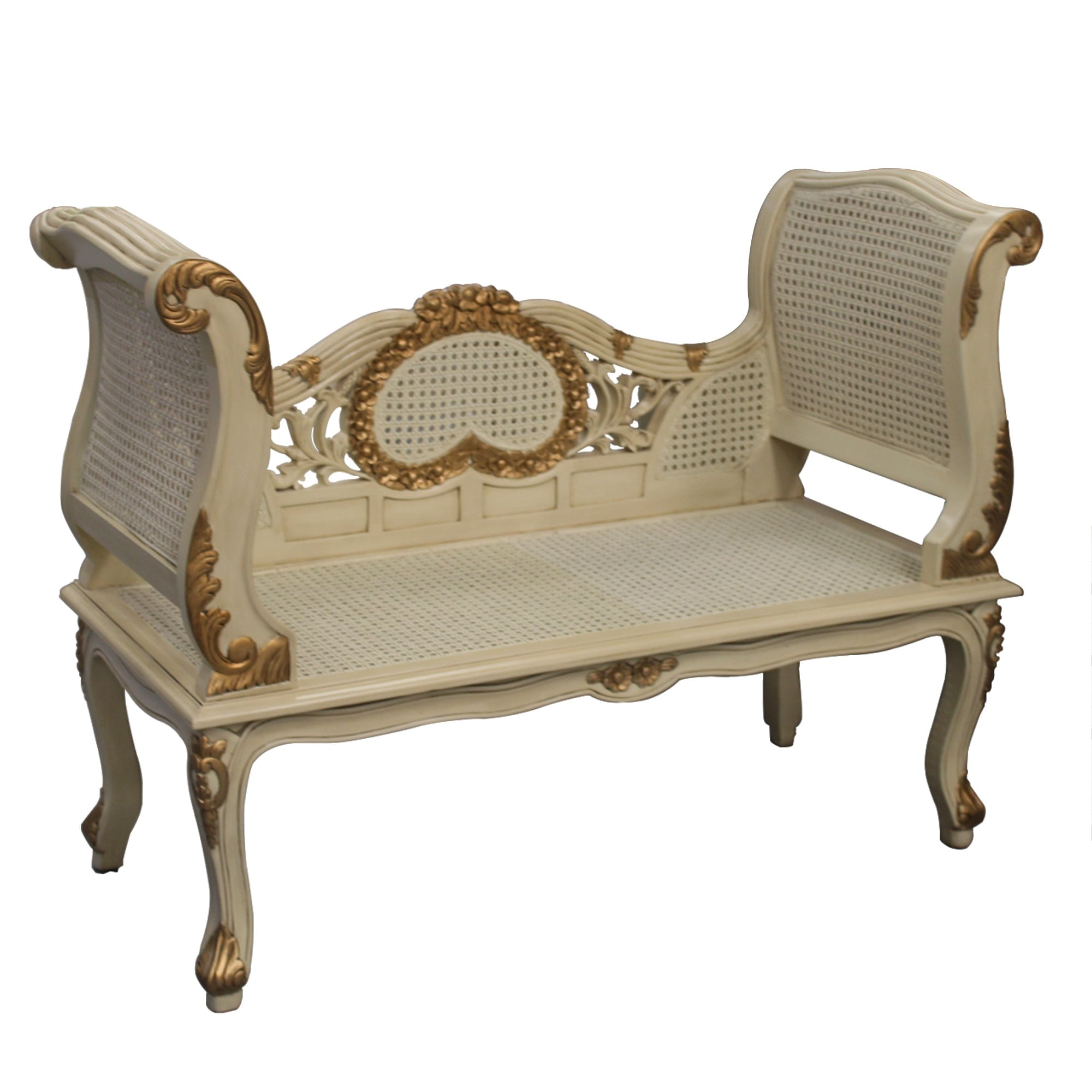 Gold And Cream French Style Sofa
