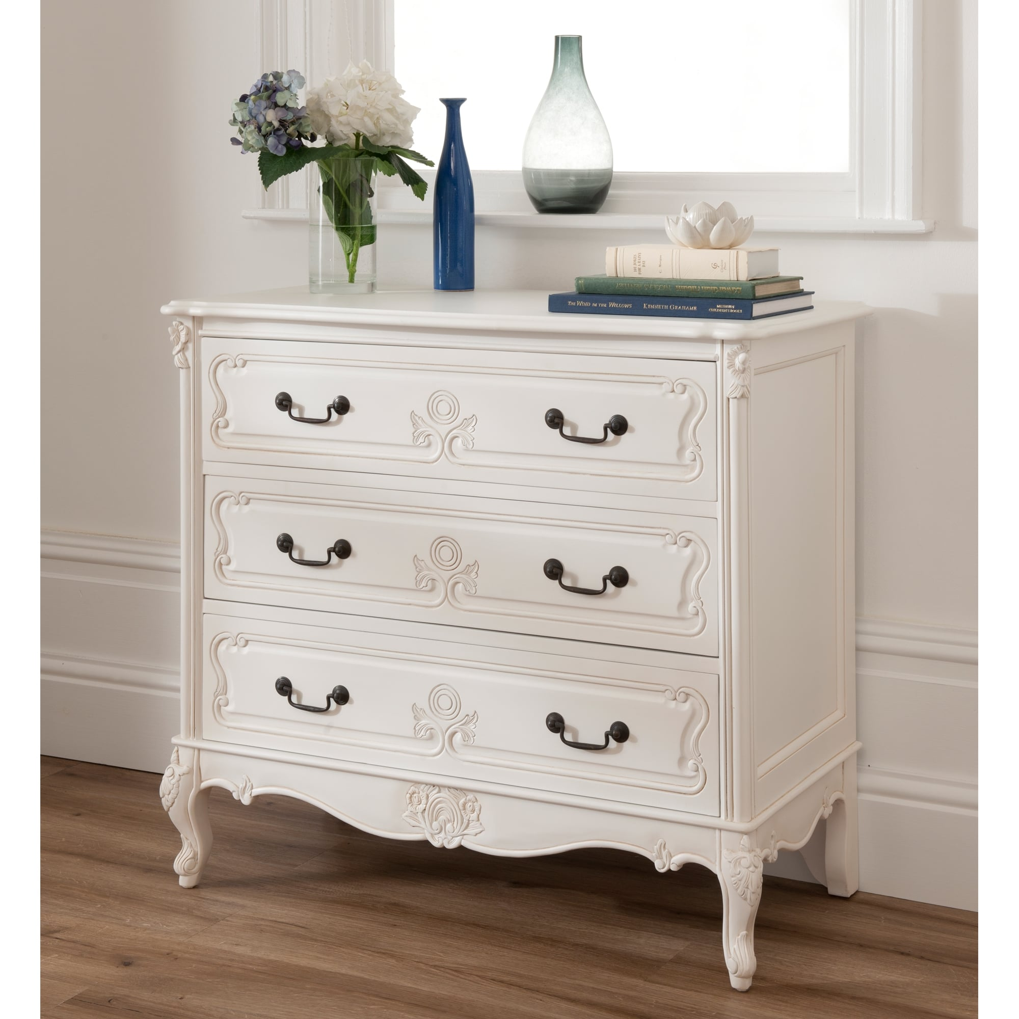 Baroque antique french white chest homesdirect365 for Furniture 365 direct
