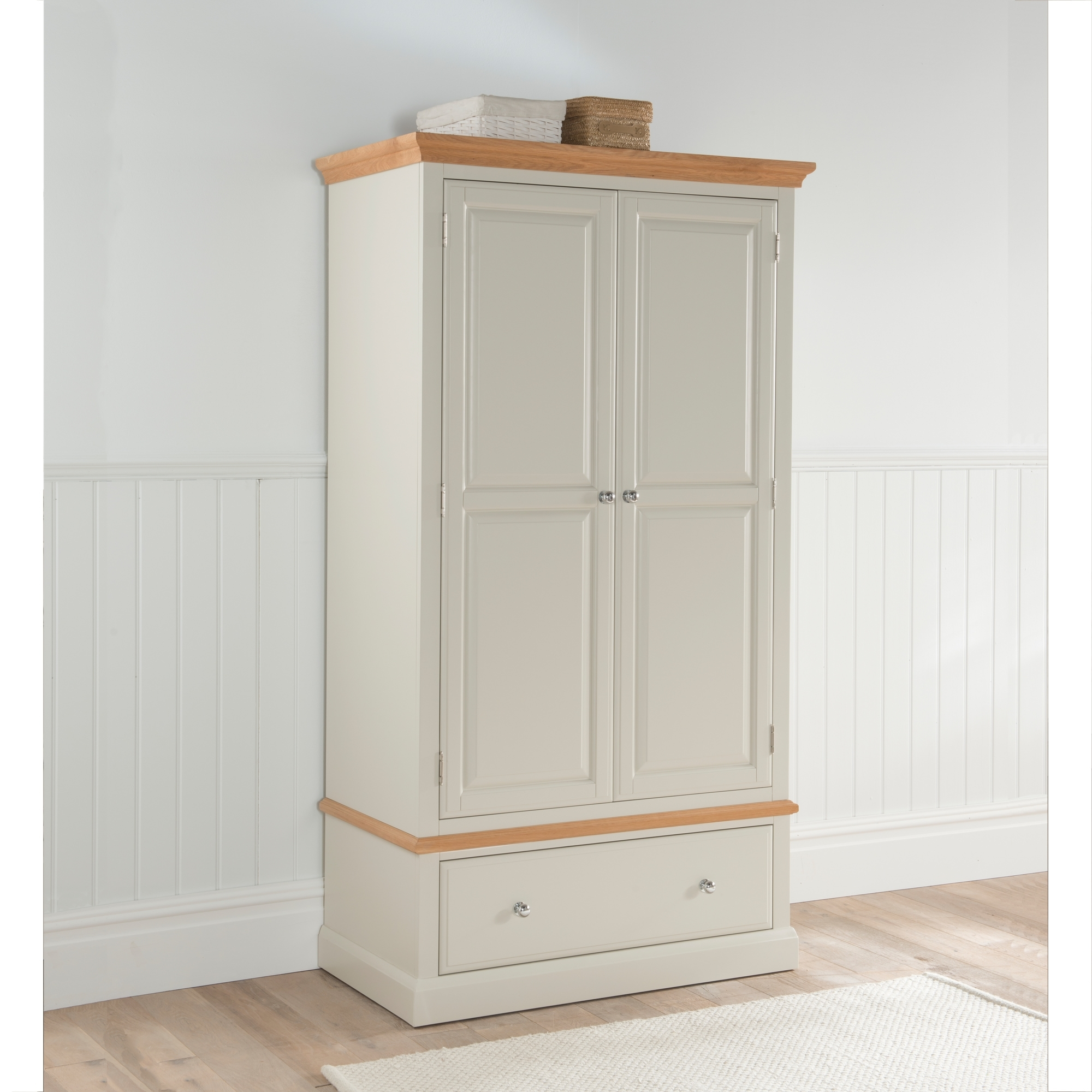 remi shabby chic wardrobe online from homesdirect365. Black Bedroom Furniture Sets. Home Design Ideas