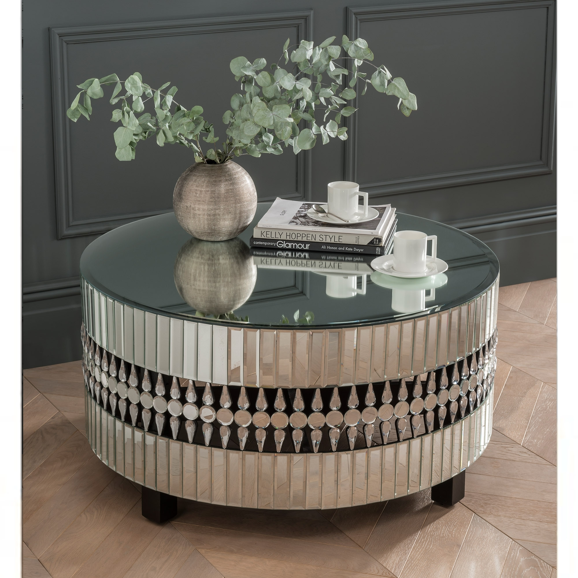 Crystal Mirrored Coffee Table Coffee Table Homesdirect365