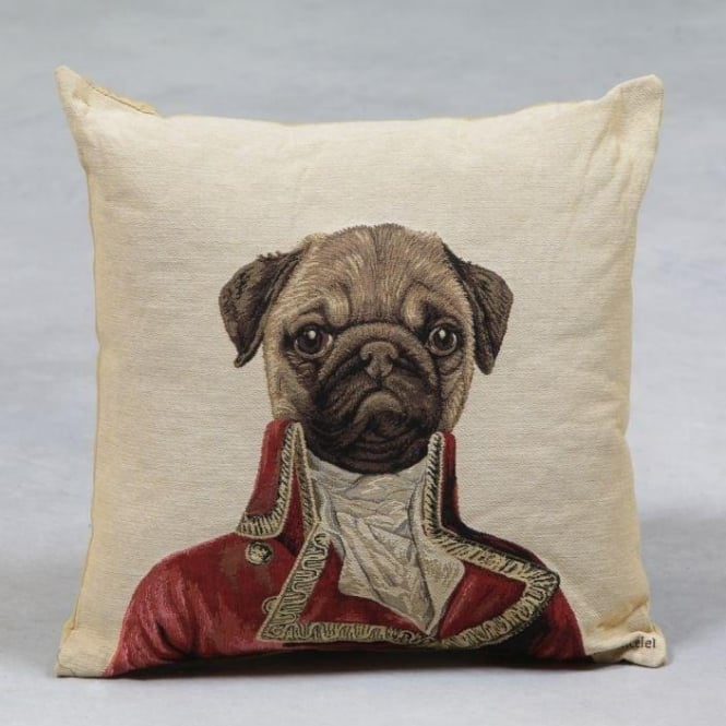 Pug Dog Baron Tapestry Cushion