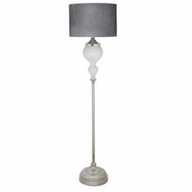 Pure White Pearl Glass Floor Lamp