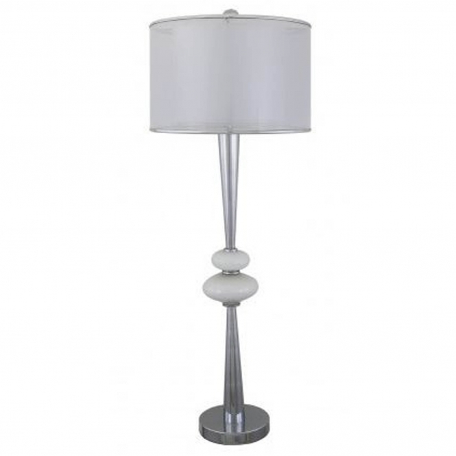 Pure White Pearl Pebble Table Lamp