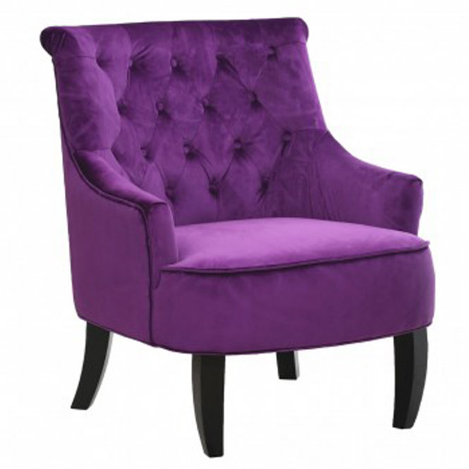 Purple Hertford Armchair