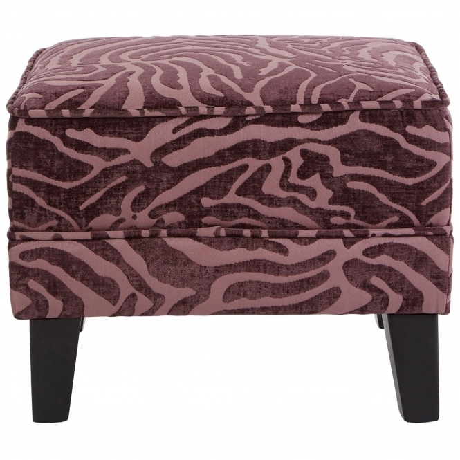 Purple Luxe Footstool