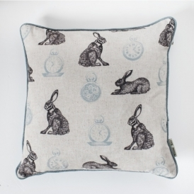 Rabbit and Clock Cushion