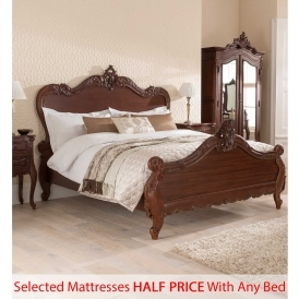 Raphael Antique French Style Bed - Half Price Mattress Bundle