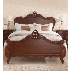 Raphael Antique French Style Bed (Kingsize)