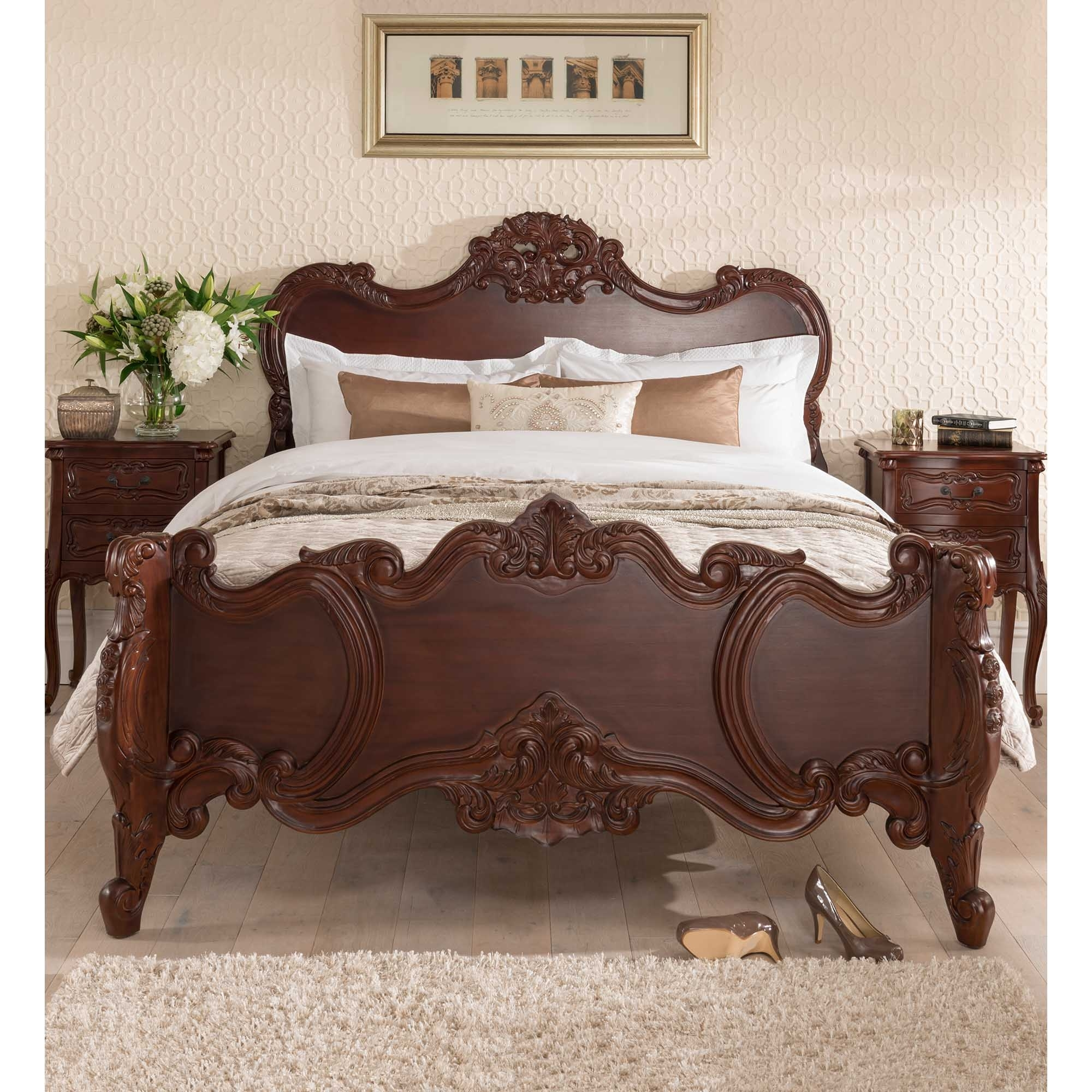 French furniture uk - Raphael Antique French Style Bed