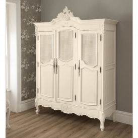Rattan Antique French Style Wardrobe