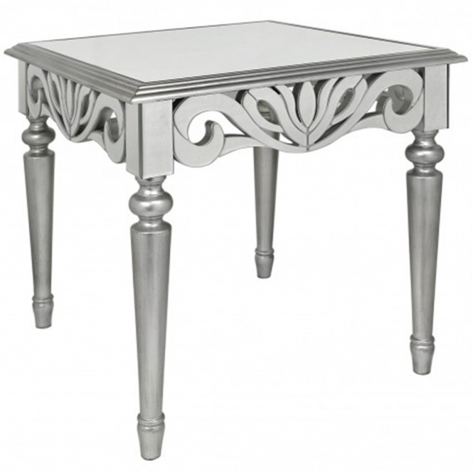 Ravenna Mirrored End Table