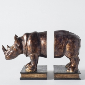 Raynard Pair of Rhino Bookends
