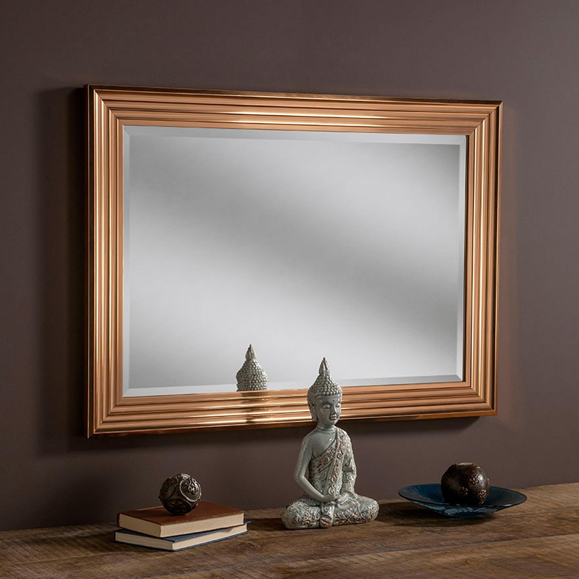 Rectangular Copper Decorative Mirror